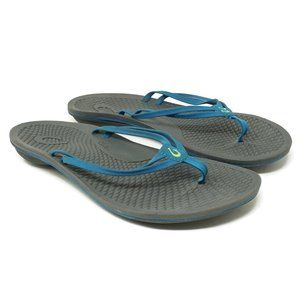 Olukai Womens Flipflop Thong Sandals Size 9 Gray